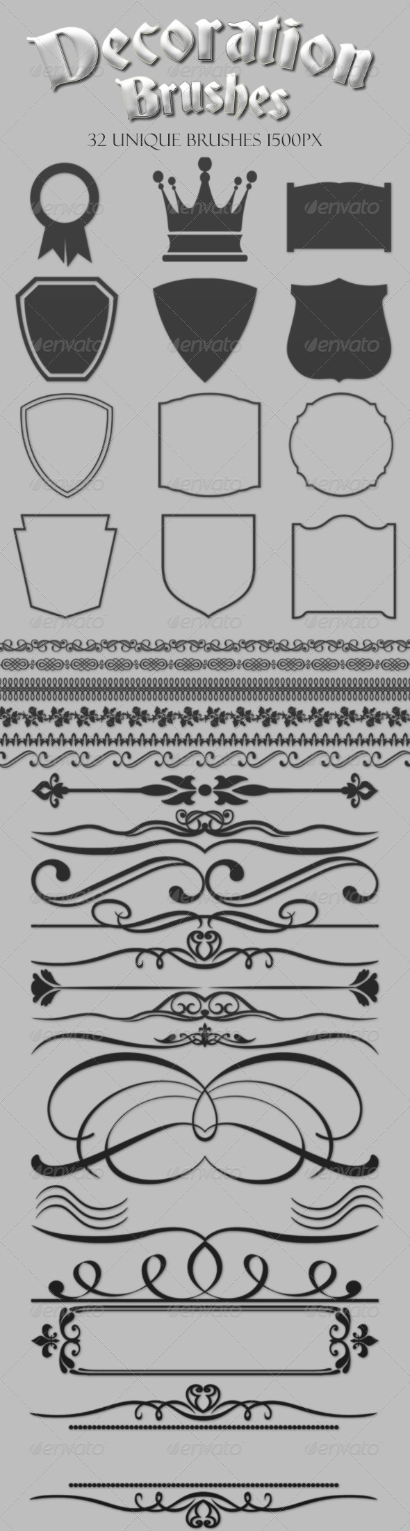 Decoration Brushes - Flourishes Brushes