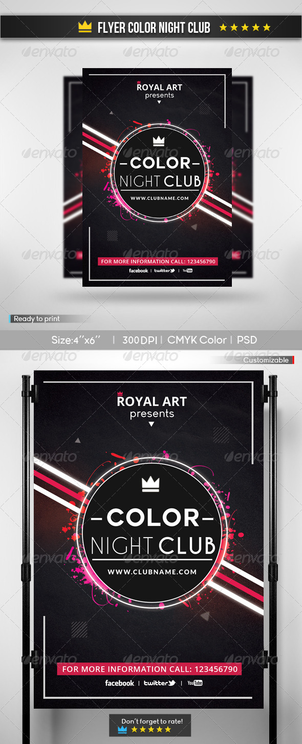 GraphicRiver Flyer Color Night Club 5996361