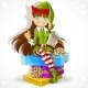Girl Elf Ready to Record Wishes - GraphicRiver Item for Sale