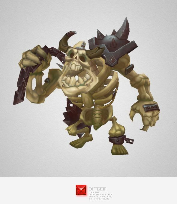 Low Poly Skeleton Grunt - 3DOcean Item for Sale