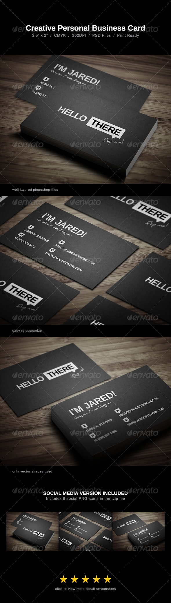 GraphicRiver Creative Personal Business Card 5997388