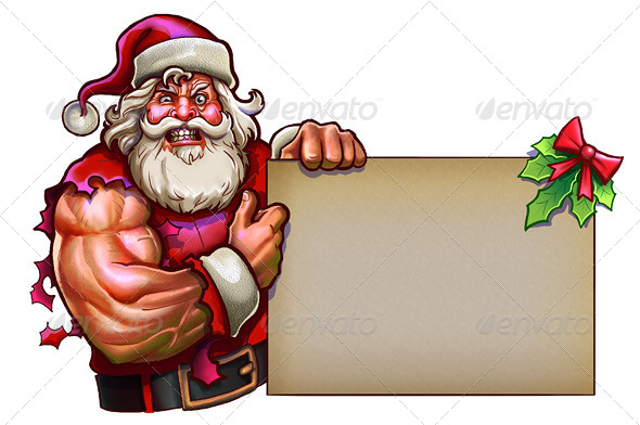 Santa Claus Muscle - Miscellaneous Illustrations