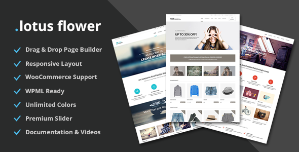Lotus Flower - Flexible Multi-Purpose Shop Theme - WooCommerce eCommerce