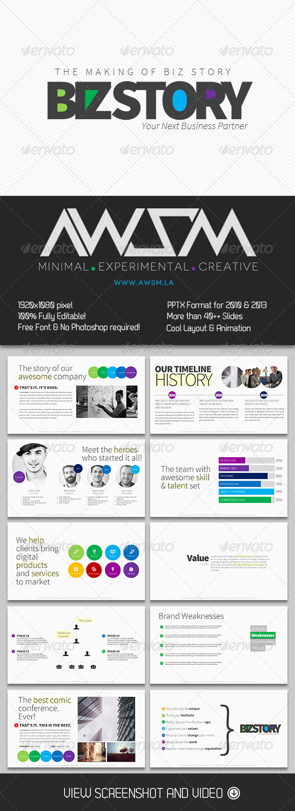 GraphicRiver Minimalist Biz Story PowerPoint Presentation 5997520