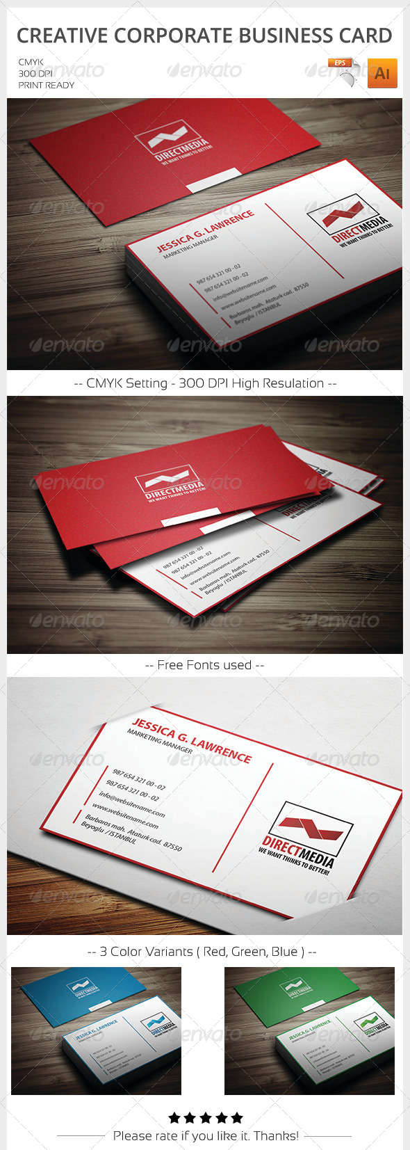 GraphicRiver Creative Corporate Business Card 5997561