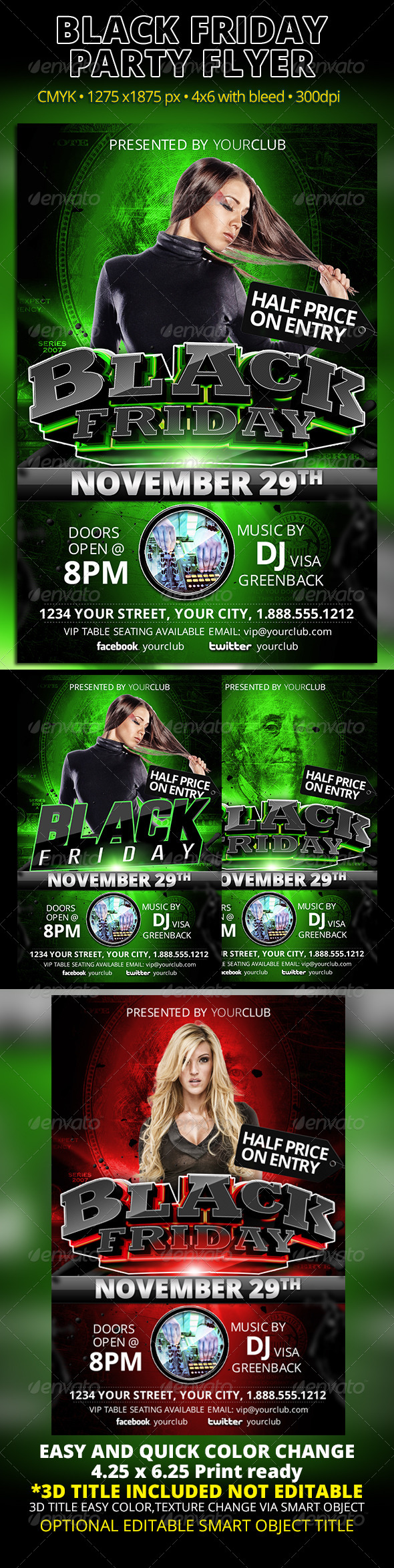 GraphicRiver Black Friday Party Flyer 5997737