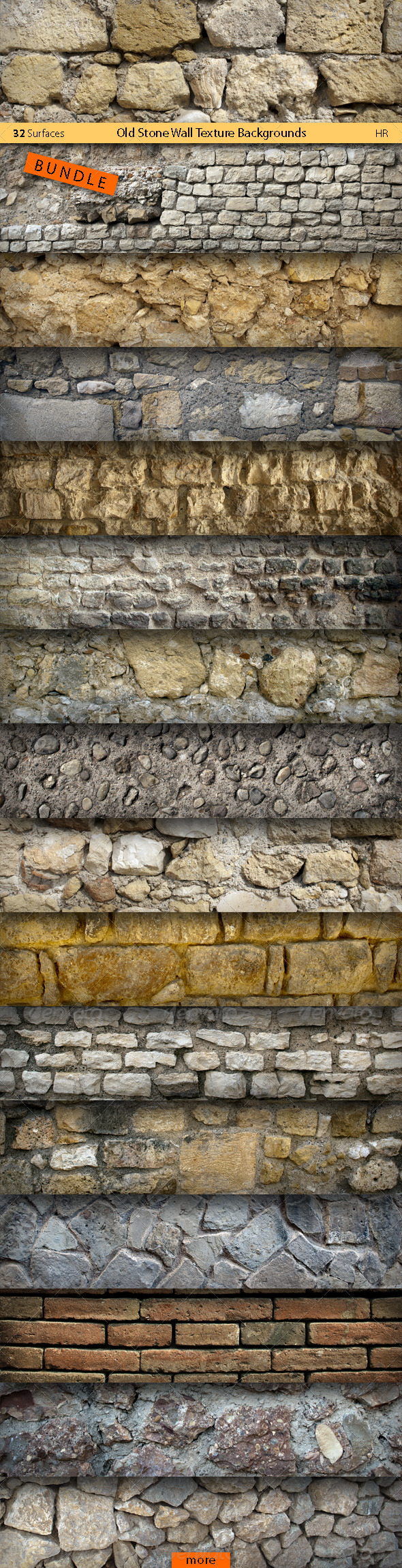 GraphicRiver Old Stone Wall Texture Backgrounds Bundle 5997813