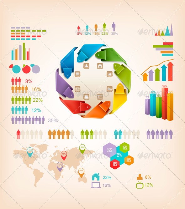 GraphicRiver Set of Info Graphics Elements 5997958
