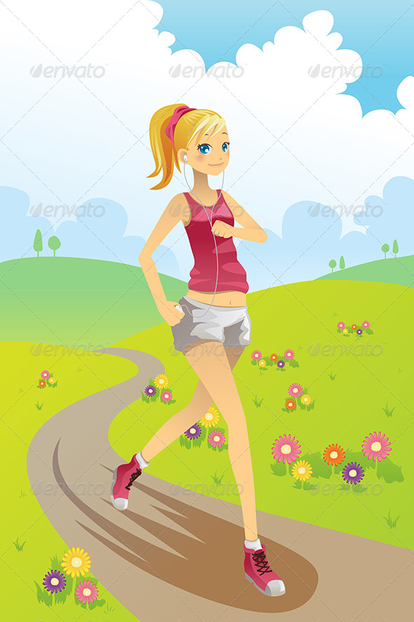 GraphicRiver Running Girl 5997964