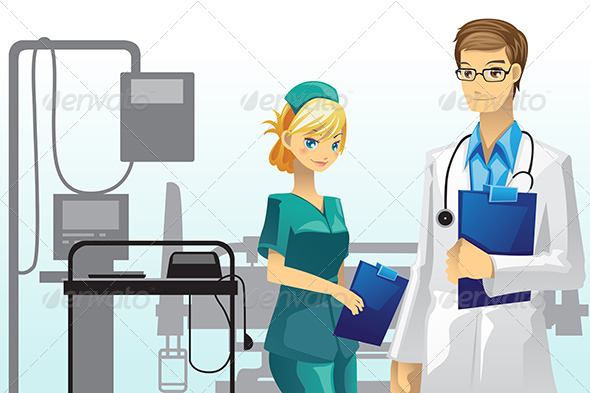 GraphicRiver Doctor and Nurse 5997976