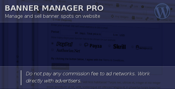 Banner Manager for WordPress - CodeCanyon Item for Sale