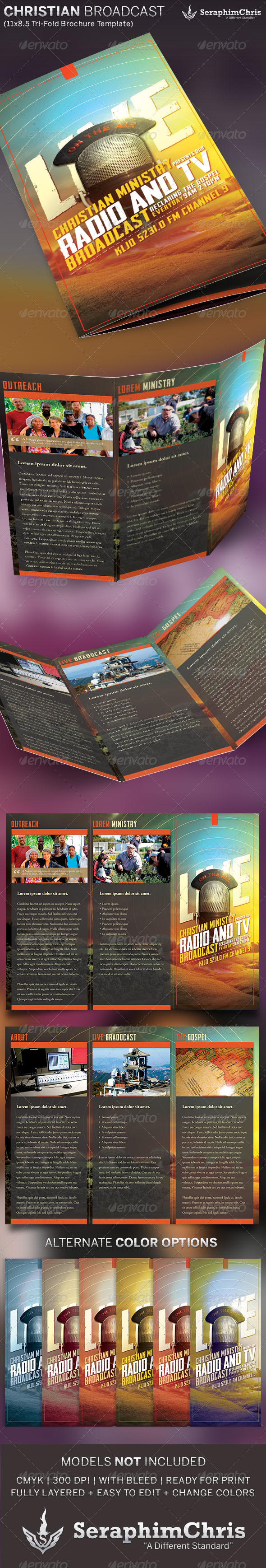 GraphicRiver Christian Radio Ministry Brochure Template 5997983