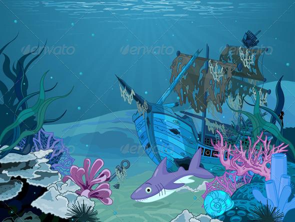 GraphicRiver Underwater Landscape 5997987