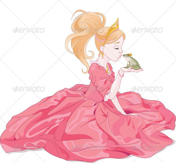 GraphicRiver Princess Kissing Frog 5997997