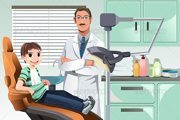 GraphicRiver Kid in Dentist Office 5998009