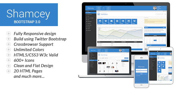 Shamcey Metro Style Admin Template - Admin Templates Site Templates