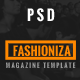 Fashioniza - Ultimate Fashion Magazine PSD