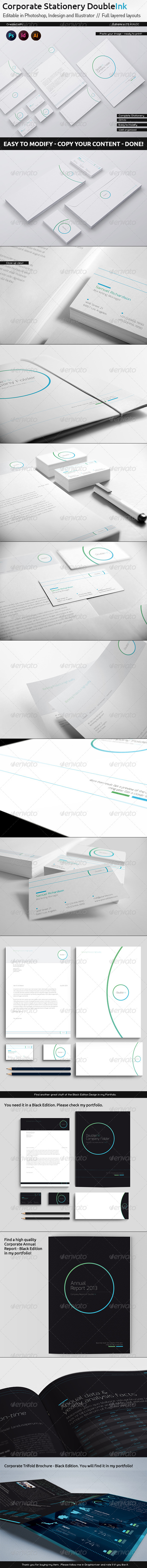 GraphicRiver Corporate Stationery DoubleInk White Edition 5998339