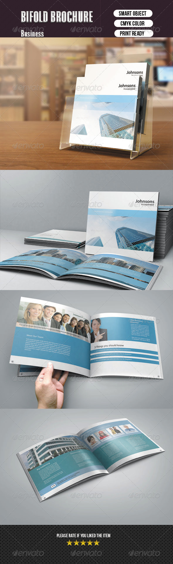 Square Bifold Brochure - Corporate Brochures