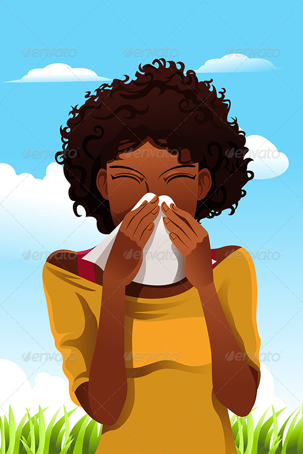 GraphicRiver Sneezing Woman 5998420