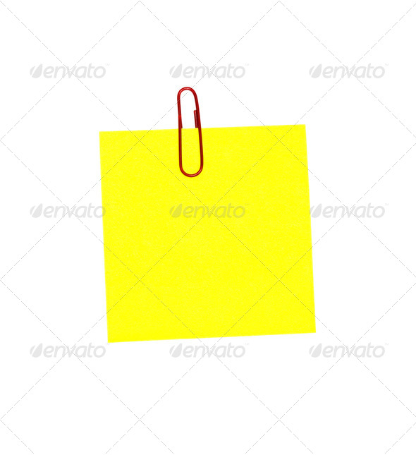 yellow sticker - Stock Photo - Images