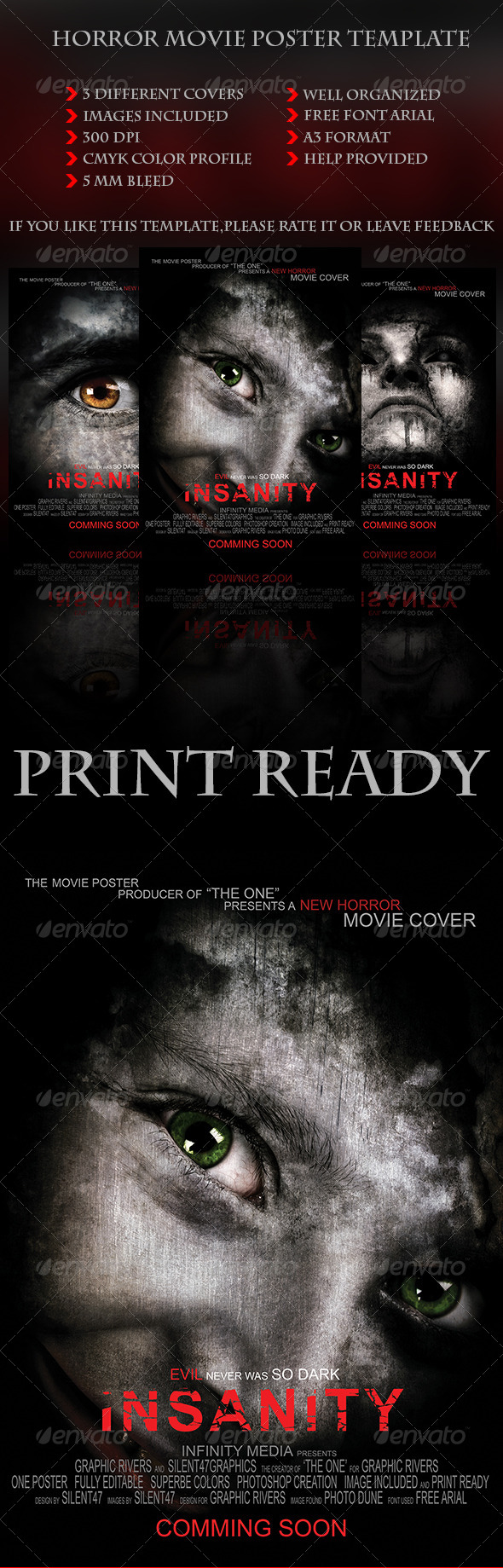 GraphicRiver Horror Movie Poster Template 5975361