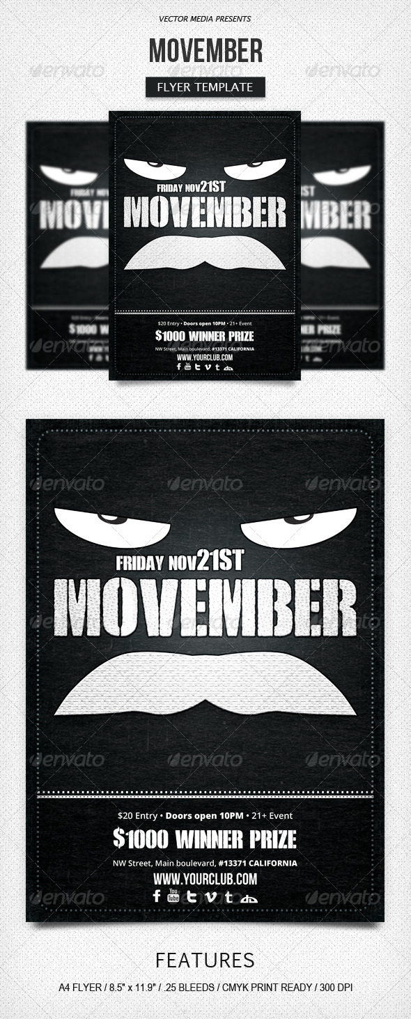 GraphicRiver Movember Flyer 5998965
