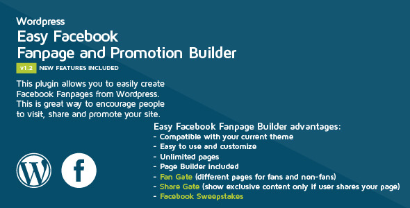 Easy Facebook Fanpage Builder gives you the ability easy and fast to create custom Facebook Fan Page Tabs linked directly to your current WordPress site. If you