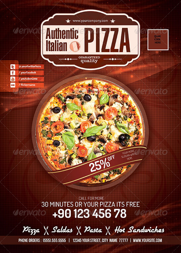 GraphicRiver Pizza Restaurant PSD flyer 5978473