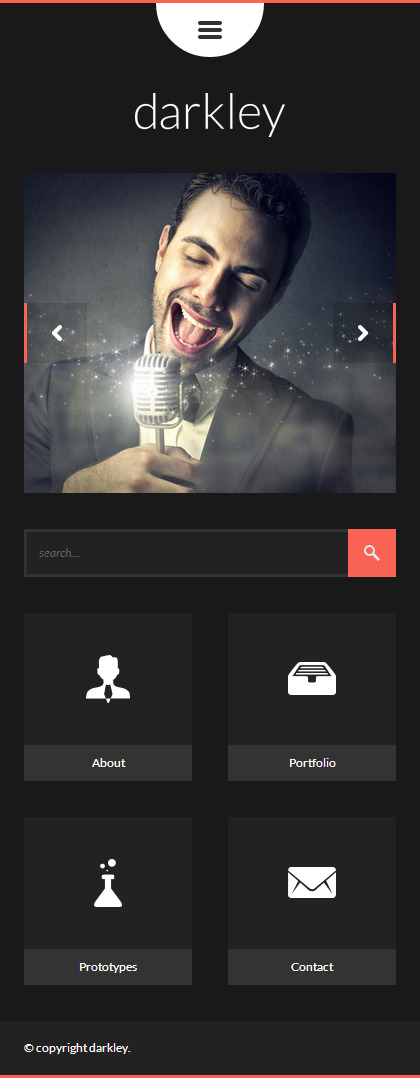 darkley | Mobile HTML/CSS Portfolio Template
