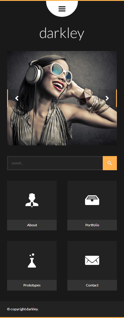 darkley   Mobile HTML/CSS Portfolio Template