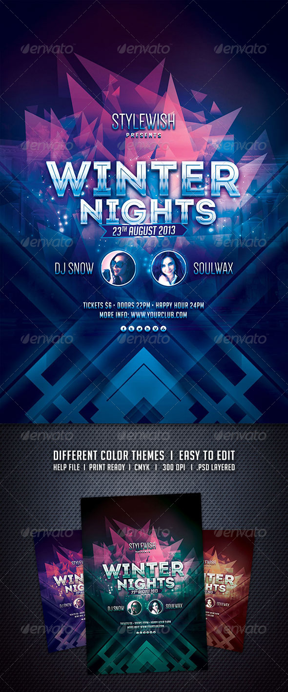 GraphicRiver Winter Nights Flyer 5980220