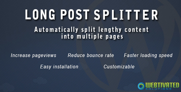 CodeCanyon WordPress Long Post Splitter 5929340