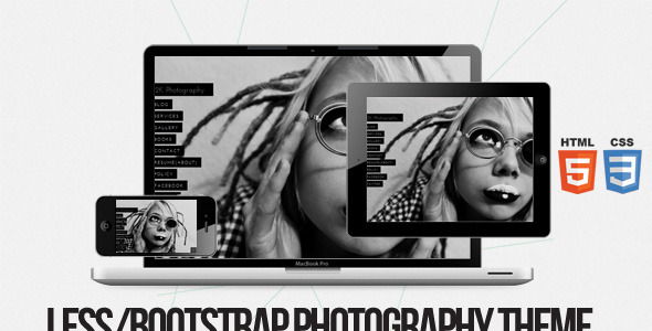 2k - One-Page LESS/Bootstrap Photography, Portfolio Template