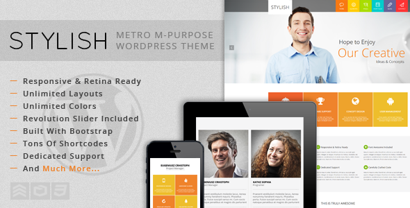 ThemeForest STYLISH Metro Multi-Purpose WordPress Theme 5958829