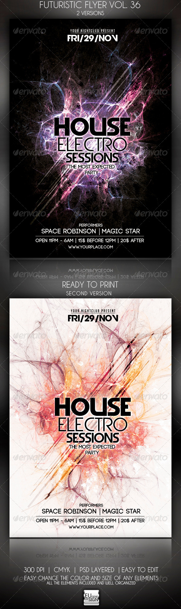 GraphicRiver Futuristic Flyer Vol 36 5999398