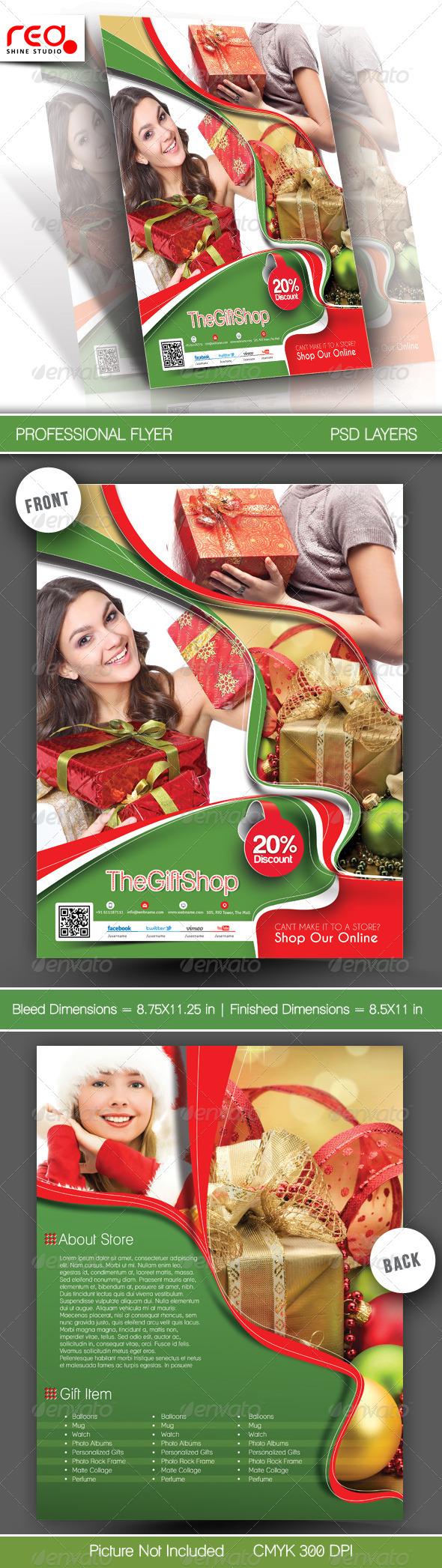 GraphicRiver Gift Shop Flyer Poster Template 5999471