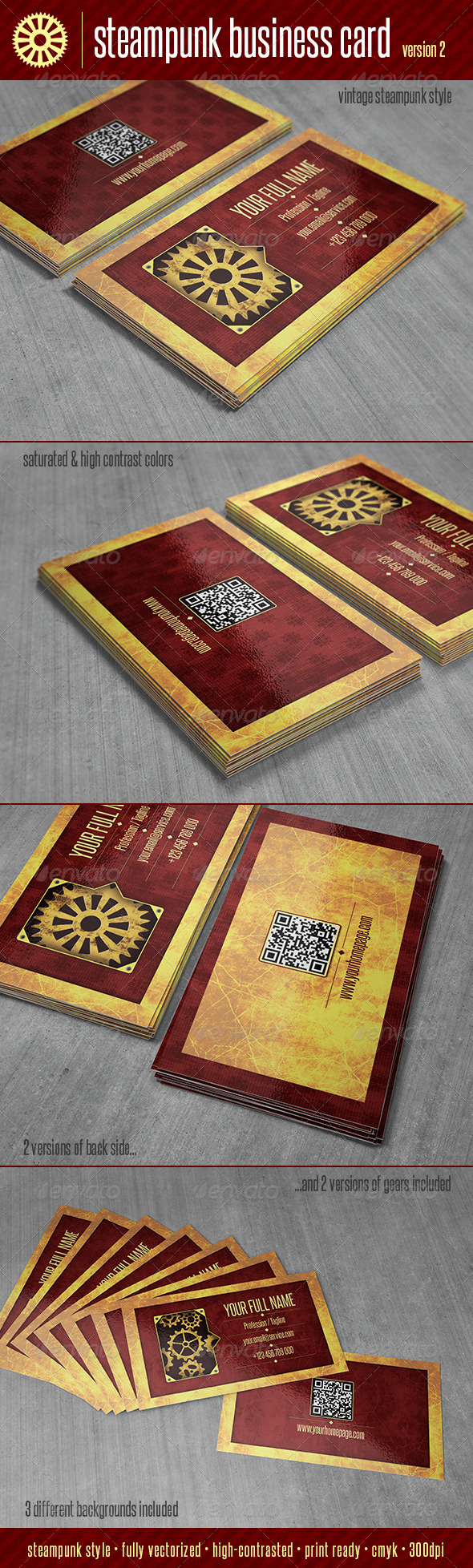 GraphicRiver Steampunk Business Card V2 5999571