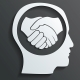 Handshake in the Head Vector - GraphicRiver Item for Sale
