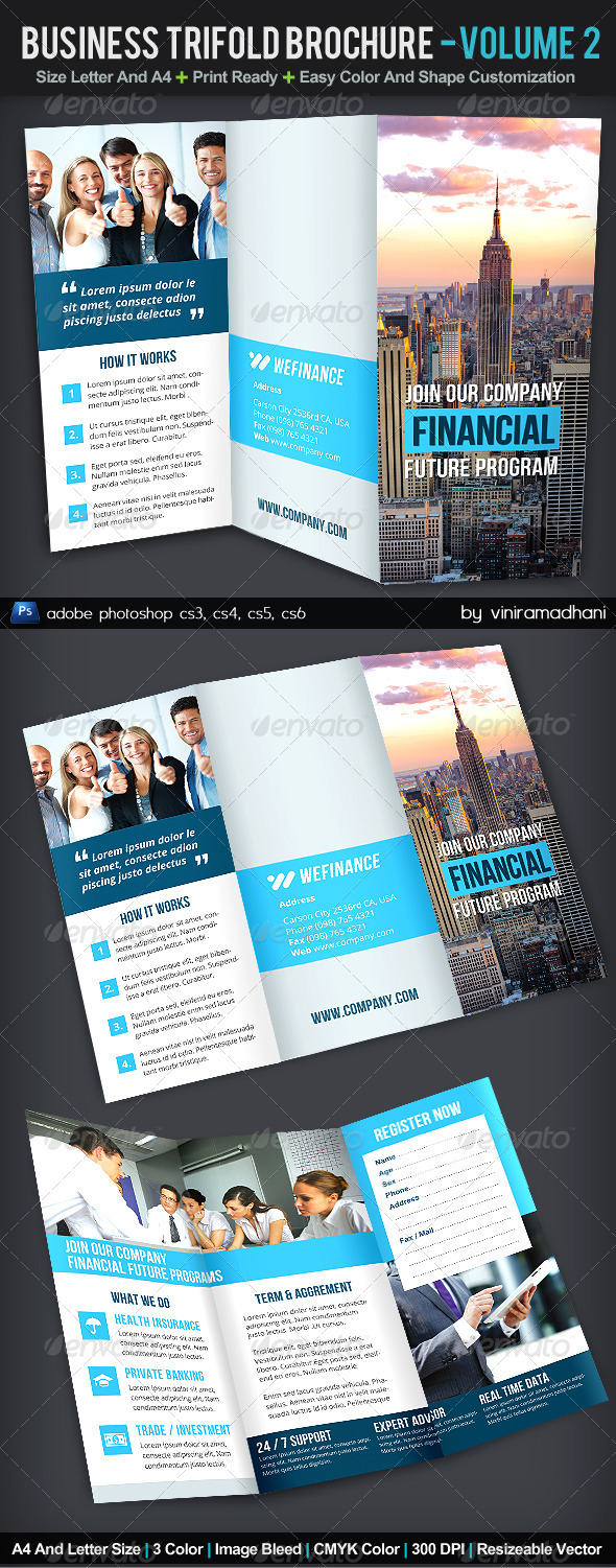 GraphicRiver Business TriFold Brochure Volume 2 5999636