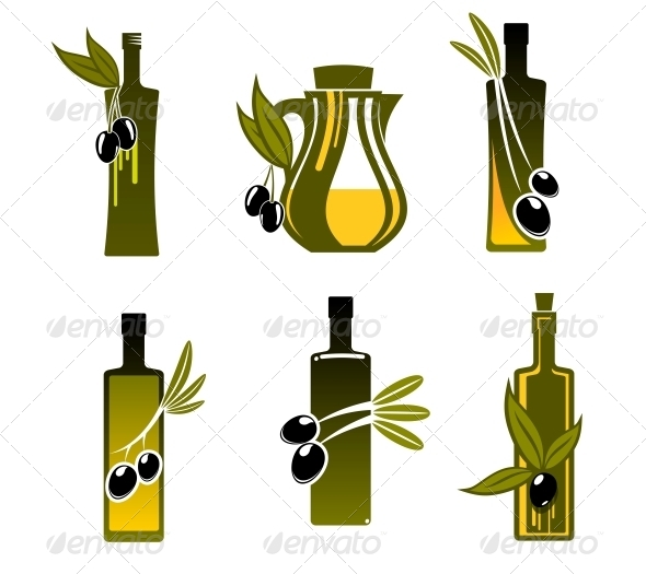 GraphicRiver Bottles with Olive Oil 5999647
