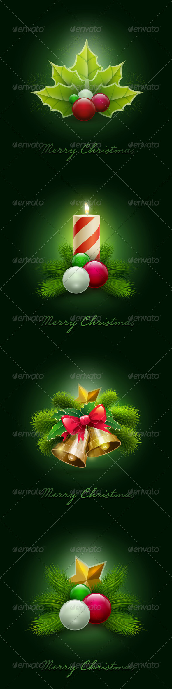 GraphicRiver Christmas Ornaments Set 5999837