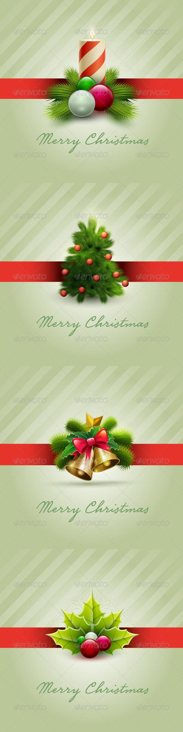 GraphicRiver Christmas Card Set 5999844