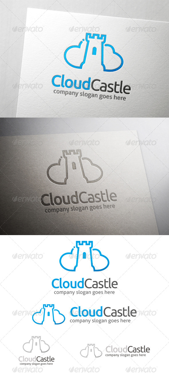 GraphicRiver Cloud Castle Logo 5999864