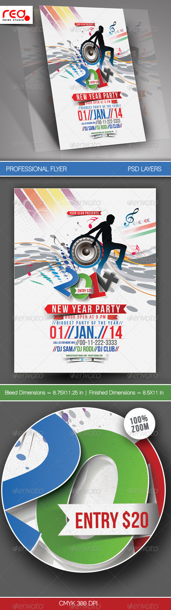 GraphicRiver New Year Party Flyer & Poster Template 5999879