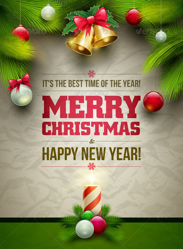 GraphicRiver Christmas and New Year Poster 5999902