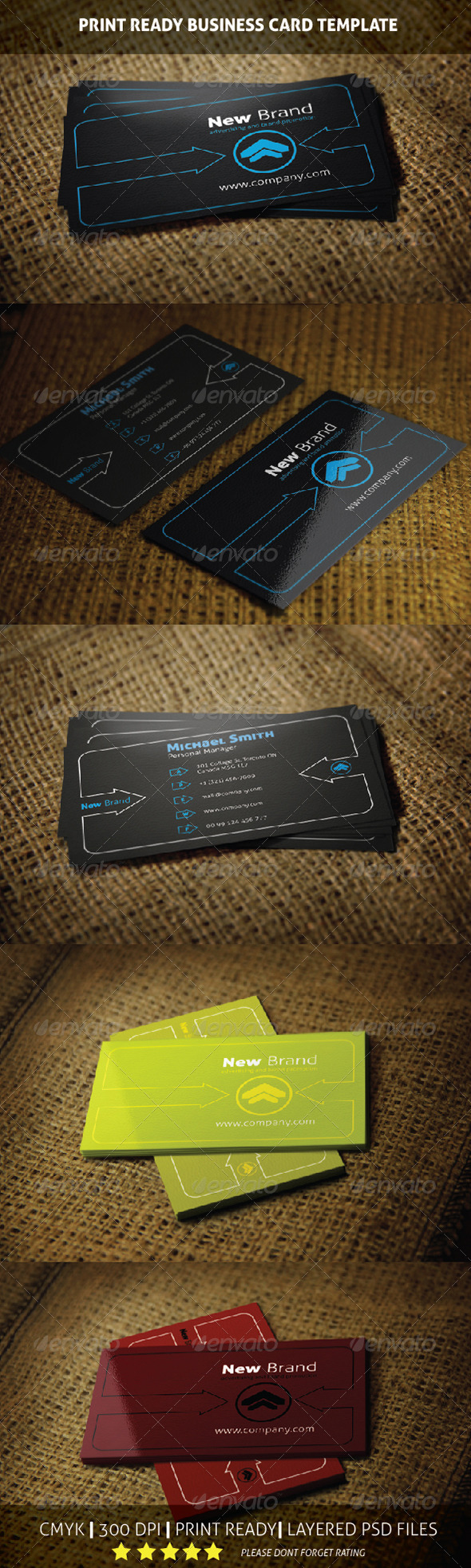GraphicRiver New Brand Business Card Template 5999922