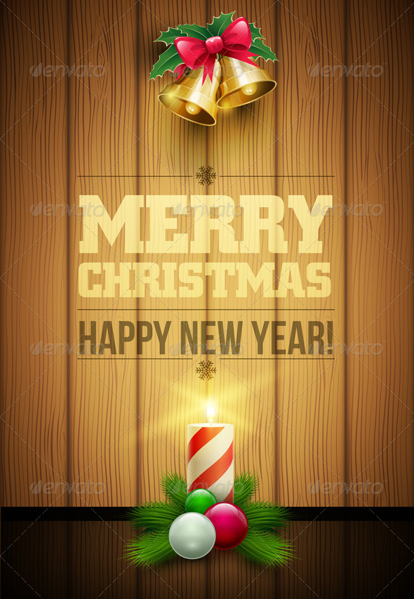 GraphicRiver Woden Christmas Message Board 5999946