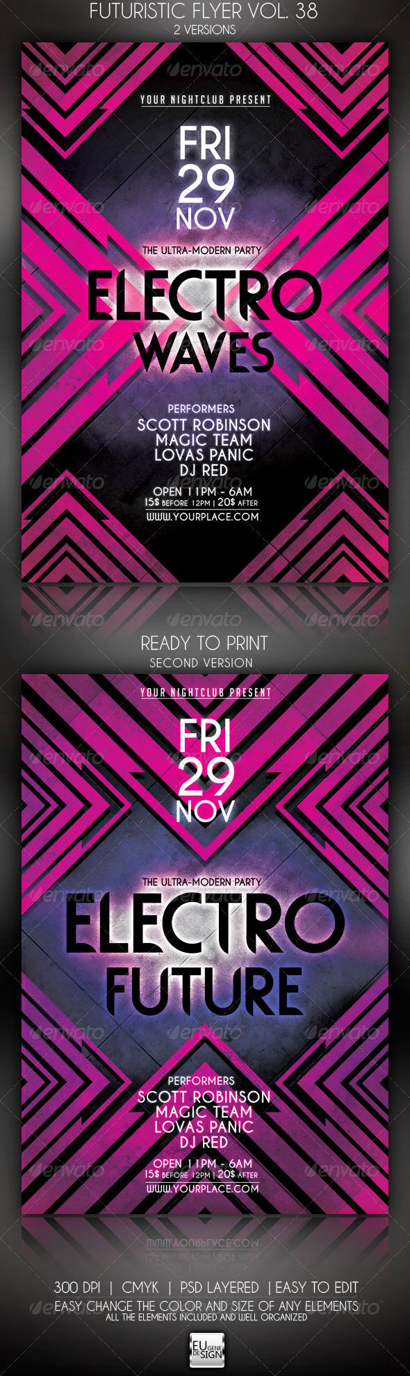 GraphicRiver Futuristic Flyer Vol 38 5999989