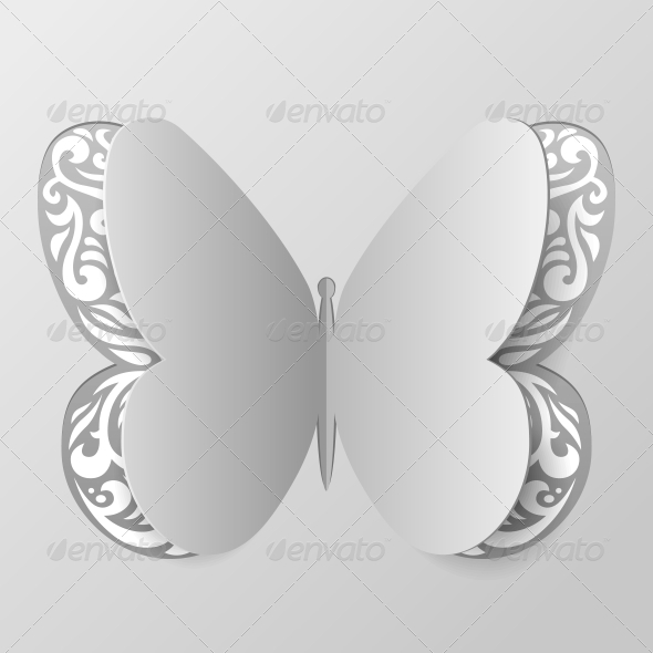 GraphicRiver Abstract Paper Butterfly with Tribal Ornament 5999998